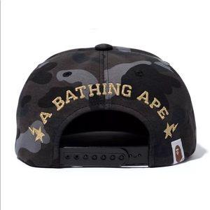 9ef38055f2096 Bape Accessories - Bape X Trophy Room Cali Snap Back Hat